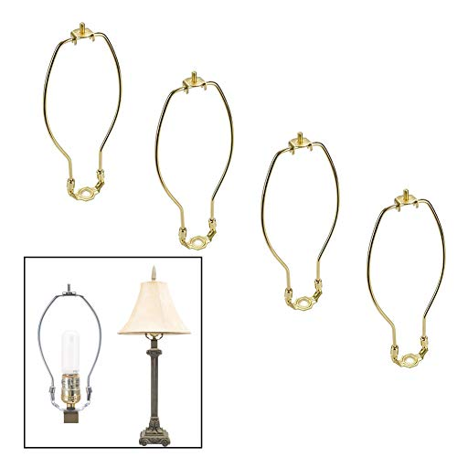 4 Pack 8 inch Lamp Harp Holder for Table and Floor Lamps (Gold)