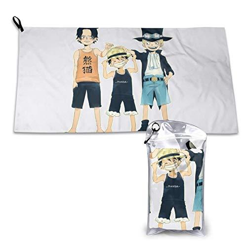 Anime One Piece Monkey D. Luffy - Toalla de algodón de secado rápido (microfibra, suave, secado rápido, 39,9 x 80 cm)