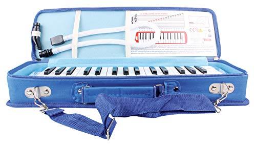Melodica Melodika 32K Klavier (Piano) Style Tastatur |Mundharmonika im Klavierstil Mit Mundstück-Reinigungstuch, für Anfänger und Kinder | Musikgeschenke Geschenkidee Geschenk für Kinder (Blau)