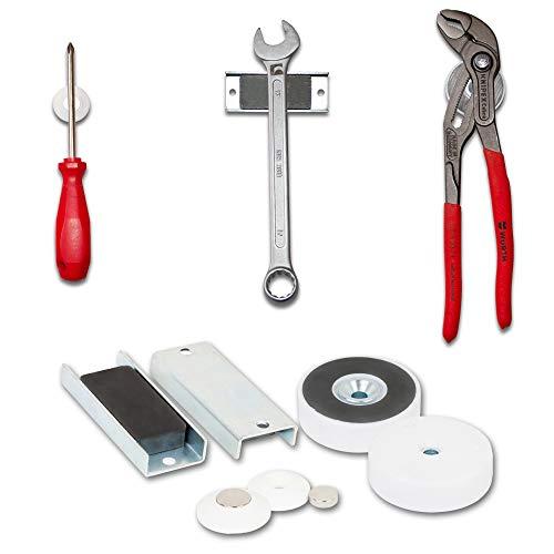 Magna-C - Soporte magnético para herramientas (6 piezas, para atornillar, soporte para destornilladores, martillos, llaves de anillo)
