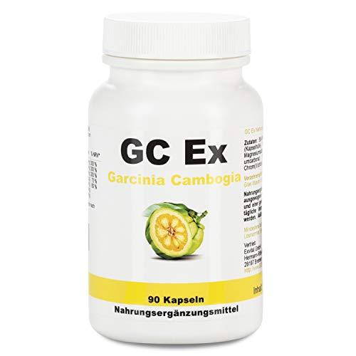 GC Ex, 1500 mg Garcinia Cambogia Extrakt, 90 Kapseln in Premiumqualität, hochdosiert, 100{af0f6e87cac4aaca8286c17b6a52ec3c017463050dc8a1b6bbd2b1cd8a0f2d32} natürlich 1er Pack (1x 77g)