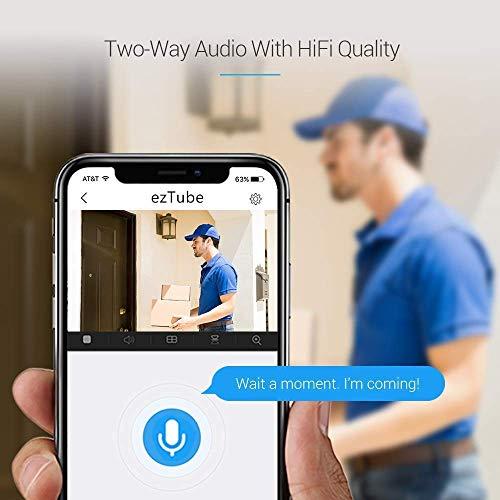 EZVIZ ezTube 1080p Überwachungskamera aussen WiFi 2.4Ghz Kamera, Sirene und Licht Alarm, Nachtsicht, Zwei-Wege-Audio, High-DB-Lautsprecher, Cloud-Service, Smart Home Security, Kompatibel mit Alexa