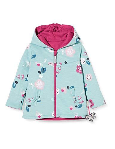 Sigikid Baby-Mädchen Wendejacke mit Kapuze aus Bio-Baumwolle, Größe 062-098 Jacke, Pink/Blau, 98