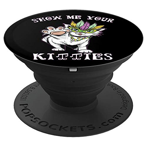 Show me Your Kitties Lustiges Katzenspiel für Erwachsene - PopSockets Ausziehbarer Sockel und Griff für Smartphones und Tablets