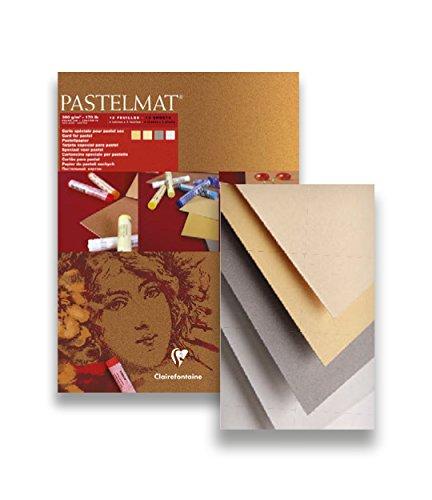 30 x 40 cm Clairefontaine 96008C Blocco Pastelmat Colori Assortiti