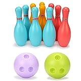 Mini Bowling Game For Kids, Bowling Set Kids Plastic Skittles Juego, Regalo De Cumpleaños, Juguete Clásico, Mini Juego De Deportes Juguete Educativo Para Niños Niño Bebé, Skittles De Jardín Juegos