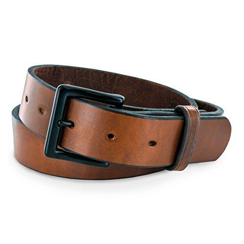 """Hanks Everyday -""""No Break"""" Thick Leather Belt - Mens Heavy Duty Belts- USA Made -100 Year Warranty - Oak - 32"""
