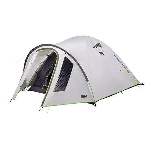 High Peak - Tienda de campaña con cúpula para 3 personas, resistente al calor, protección solar UV 80, 3000 mm, resistente al agua, para camping y festivales, tienda interior oscurecida