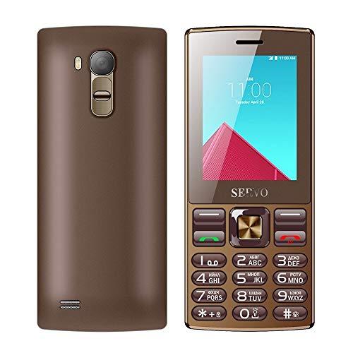 Teléfono móviles para Mayores Teléfono móvil de Tarjeta V9300 SERVO, de 2,4 Pulgadas, 21 Teclas, Ayuda Bluetooth, FM, Linterna, MP3 / MP4, gsm, SIM, etc. (Color : Coffee)