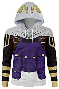 NoveltyBoy My Hero Academia Tamaki Amajiki Hoodies Pullover Sweatshirt Top Halloween Cosplay Costume Purple