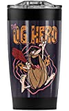 Captain Caveman Og Hero Stainless Steel 20 oz Travel Tumbler, Vacuum Insulated & Double Wall with Leakproof Sliding Lid   Great for Coffee/Hot Drinks and Cold Beverages
