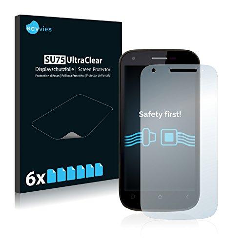 Savvies 6X Schutzfolie kompatibel mit Wiko Cink Peax 2 Bildschirmschutz-Folie Ultra-transparent