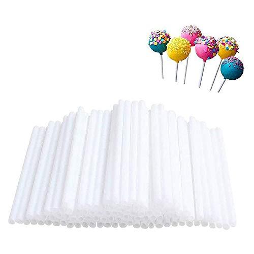 Find Bargain IETONE 400 Pieces Plastic Lollipop Sticks, Chocolate Hard Candy Homemade Cake Stick for...