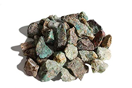 Dey Designs 1/2 LB Chrysocolla Rough Stones Natural Raw Stones & Fountain Rocks for Tumbling, Cabbing, Healing Crystals, Polishing, Wire Wrapping, Wicca & Reiki Crystal Healing