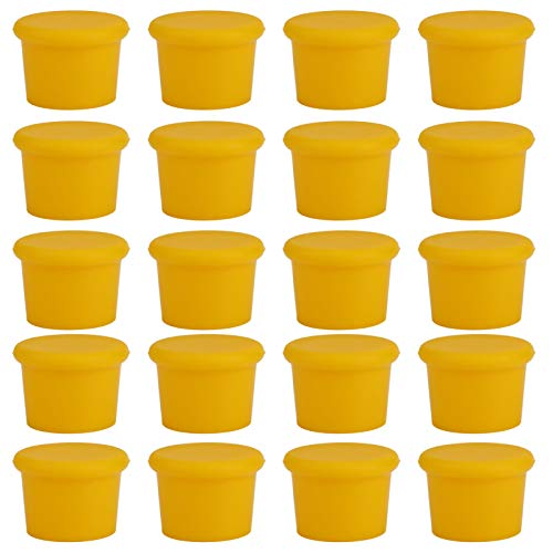 Nichhany Tapa de Botella de tapón de Vino de 20 Piezas, Tapa de Silicona de Grado alimenticio para Cerveza, Bebida(Yellow)