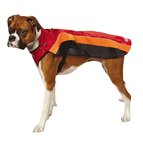 KONG Dog Harness Coat Red Adjustable Harness Fleece Lining Dog XSmall Closeout !