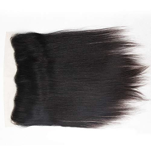 Natürliche Haarteile 8'-20' Brasilianisches Menschenhaar 13 * 4 Spitze Frontal Verschluss Natürliche Schwarze Farbe...