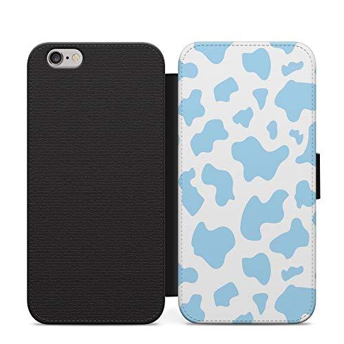 Azul Cyan vaca Muddy patrón multicolor teléfono caso cartera cubierta para Huawei Y9 2018