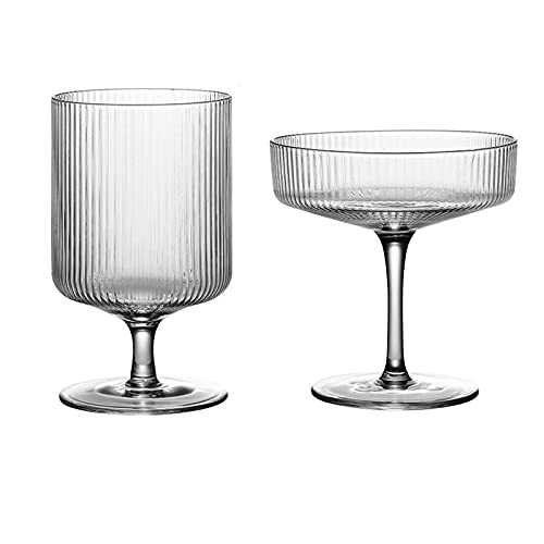 2pcs Glass Dessert Cake Cup, Dessert Display Stand for Laying Cakes, Pastries or Baked Goods, Modern Design with Crystal-Clear Borosilicate Glass