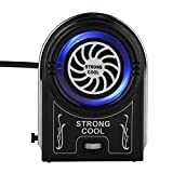 ASHATA Wind Laptop - Cooler PC, Mini USB Cooler Cooler Pad/Lapso de enfriamiento, Enfriador Universal Cool Cooling Fan de Alta Potencia con luz LED para PC Laptop Notebook