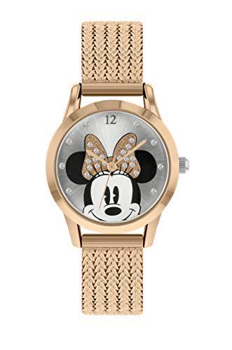 Disney Unisex Erwachsene Analog Klassisch Quarz Uhr mit PU Armband MN8070
