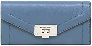 Michael Kors Women's Kinsley, Carryall Long Wallet, Leather Material - DK Chambray