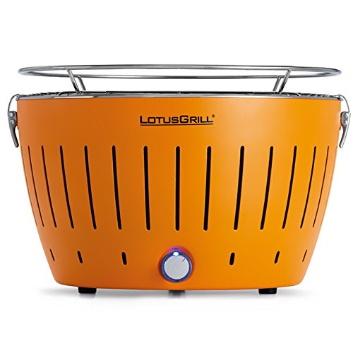 Lotusgrill - lotusgrill orange - Barbecue … charbon portable 35cm orange avec housse