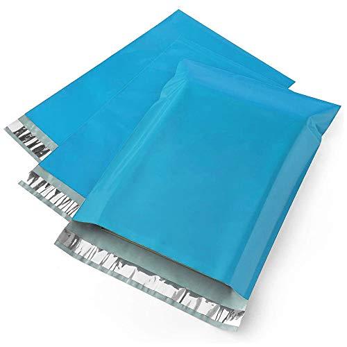 【300枚】宅配ビニール袋 宅配ポリ袋 LDPE 厚み薄手60ミクロン A4サイズ (幅250×高340+フタ40mm) 青(外側) 黒(内側) 透けない 宅配袋 梱包 配送用 強力テープ付き クリップポスト ゆうパケット 対応サイズ