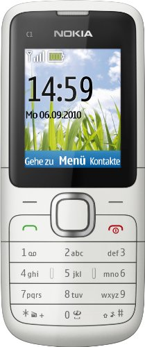 Nokia C1-01 Handy (Ohne Branding, 4,6 cm (1,8 Zoll) Display, VGA Kamera) warm grey