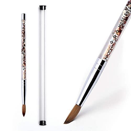 Kolinsky Acrylic Nail Brush, Modelones Nail Art Brushes for Acrylic Application, Pure Kolinsky Sable Hair, Bristles Liquid Glitters Handle (Size 10)