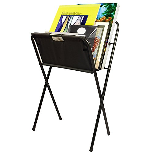 Creative Mark Folding Canvas Art & Display Rack - Art Gallery Display Rack For Displaying Artwork Canvas, Panels, Storage Rack, Drying Rack - [Black - 42 x 24