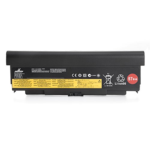 Amanda 9 Cell 57++ New Battery Replacement for Lenovo ThinkPad T440P T540P W540 W541 L440 L540 45N1152 45N1153 0C52864 11.1V 8960mAH