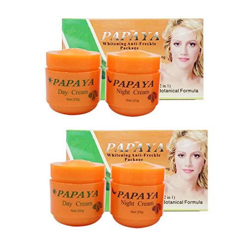 Papaya Whitening Cream Für Gesicht Anti Sommersprossen Tagescreme + Nachtcreme (4 Stück)