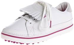 top rated Crocs Bradin Women's Golf Shoes White / Fuchsia 4M US 2021