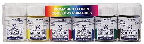 Talens plakkaatverf primaire kleuren - 6 stuks