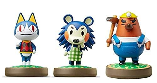 Nintendo Animal Crossing 3 Pack Bundle (Rover-Mabel-Resetti) Nintendo Switch -3DS-Wii U (Bulk Packaging)