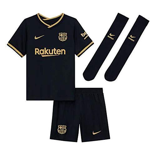 NIKE FCB LK NK BRT Kit AW Football Set, Unisex niños, Black/Metallic Gold Full Sponsor, XS