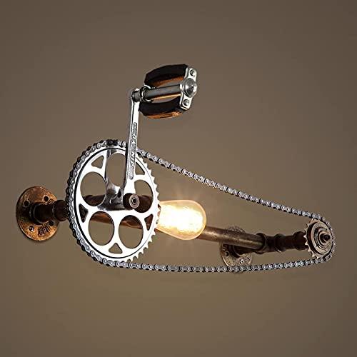 DFGBXCAW Single Head Vintage Steampunk Hierro Equipo de Personalidad Bicicleta Luz de...