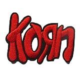 hotrodspirit – Patch gruppo Korn ecrit in rosso 7 x 5 cm ecusson Hard Rock