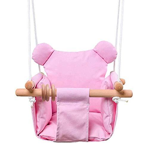 Babyschaukel Mit Kissen, Baby Canvas Schaukelstuhl Faltbare Hängende Sichere Hängematte - Holzschaukel Belastbar, Türrahmen Schaukel Für Baby Drinnen Und Draußen