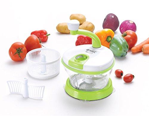 ORBIT 4in1 Plastic Food Processor (Green and White)