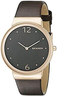 Skagen Women'S Silver/Blue Dial Leather Band Watch - Skw2368,