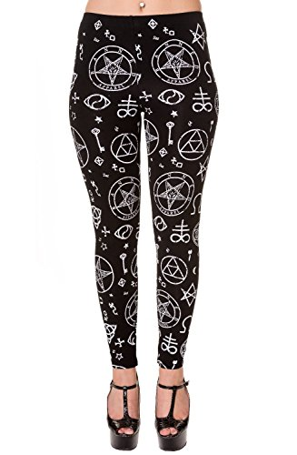 Banned Pentagramm Wicca Okkulte Symbole Alternative Leggings - (S)