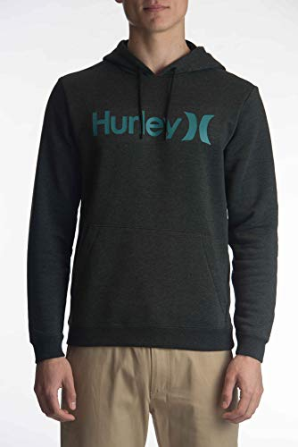Hurley M Surf Check One & Only Pullover Sudadera, Hombre, Black Heather, XL