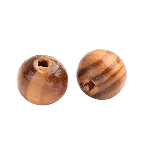 rosenice 8mm naturales de madera de cuentas redondas sueltos de madera Bead Bulk Lots bola para joyería Making Craft pelo DIY pulsera de macramé collar Mix Color 200pcs