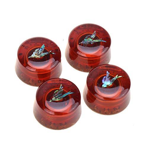 Musiclily Pro Tamaño Métrico 18 Splines Abalone Bird Top Botones de Potenciómetros...