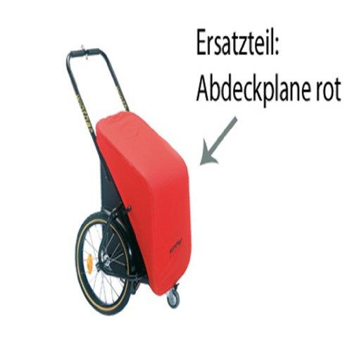 Plane für Donkey Classic / Ersatzteil für den Fahrradanhänger von Winther / Farbe:rot (Lieferung ohne Donkey Classic)