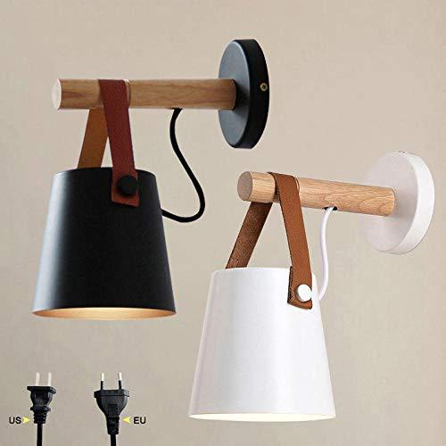 LED wandlamp wandlamp met stekker woonkamer Nordic hout wandlamp bedlampje slaapkamer