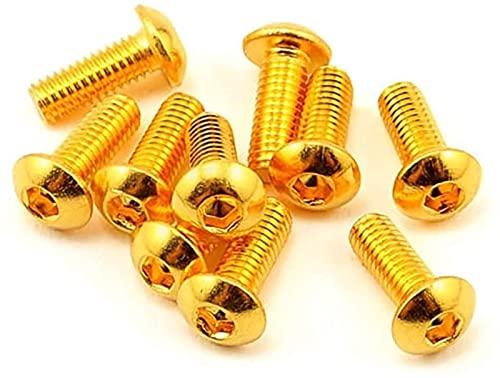 DWhui Viti a Macchina 10pcs Grado Mezza Rotonda Testa Rotonda Placcatura in Titanio Gold Gold Hex Avvitata Avvolgita Avvolta Avvolgica (Colore : 5mm, Size : M5)