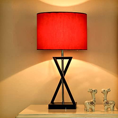 XCUGK Lámpara de Mesita Lámpara de Escritorio de diseño Moderno con Pantalla de Tela de Lino Lámpara de Dormitorio para Sala de Estar Oficina Habitación de niños